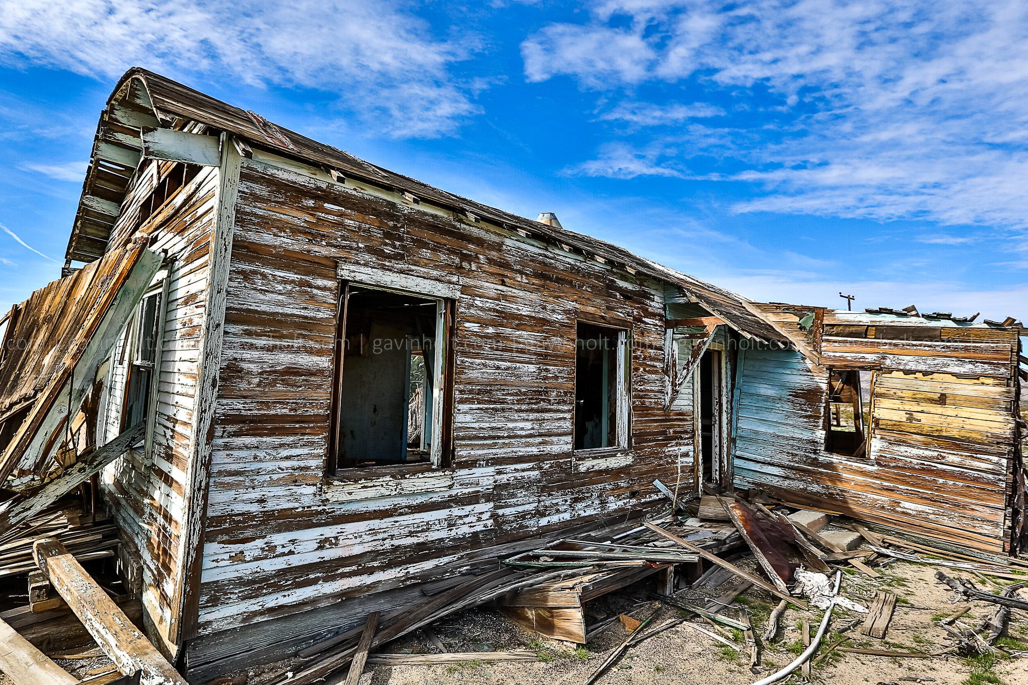 Abandoned House in the Mojave Desert